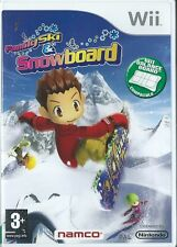 UK FAMILY SKI AND SNOWBOARD=NINTENDO Wii=SNOW=BOARD=AGE 3+=HALF PIPE=FIT BOARD