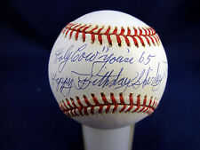 PHIL RIZZUTO - hand signed autographed baseball Holy Cow Happy Birthday Shirley