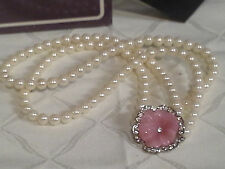 VINTAGE KENNETH JAY LANE PERFECT PANSY  NECKLACE 1995--NEW--SHIPS IN 1 DAY
