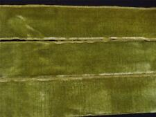 """VINTAGE LUXURIOUS 1940's FRENCH RAYON VELVET RIBBON 1 1/2"""" MOSSLEAF 103"""