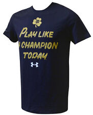 Notre Dame Fighting Irish Under Armour Navy Play Like A Champion T Shirt 3XL