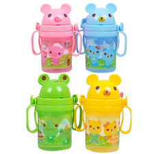 Drinking Bottle Sippy Cute Cups With handles Baby Kids Straw Cup Cute Design