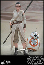 REY & BB8 Hot Toys 1/6 Star Wars Force Awakens Daisy Ridley IN STOCK UK LAST ONE