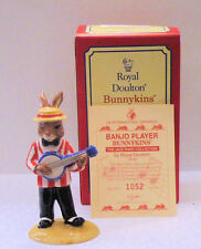 ROYAL DOULTON BUNNYKINS DB182 BANJO PLAYER FROM JAZZ BAND EXCELLENT BOXED