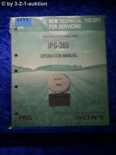 Sony Operation Manual IPS 360 GPS Receiver (#3111)