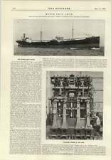 1914 The Motor Ship Arum Swan Hunter Wallsend Engines