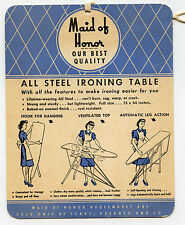 Vintage - Sears - Maid of Honor Ironing Table Instruction / Information