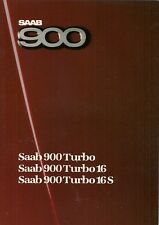 Saab 900 Turbo 1985-86 UK Market Sales Brochure 8v 16v 16S