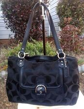 AUTH COACH Campbell Signature Belle Carryall F25294 XL Tote Purse