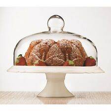 Brilliant - Bianco Pedestal Cake Plate and Dome 30cm