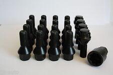 16 X M12 X 1.5 30MM BLACK BOLTS & LOCKING BOLTS FIT MERCEDES C CLASS W202 W203