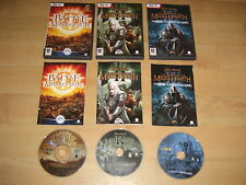 LOTR - The Battle For Middle Earth 1 + 2 II + Rise Of Witch-King Pc DVD BFME