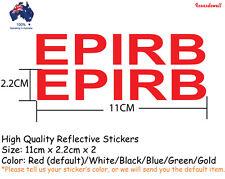 2x EPIRB Reflective Stickers Decals boat safety sticker Best Gifts
