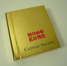 Cathay Pacific Airways Hong Kong Solid Brass Photo Frame & Clock