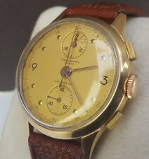 STUNNING CHRONOGRAPHE SUISSE 18CT GOLD ANTIMAGNETIC GENTS VINTAGE WRIST WATCH