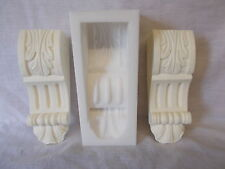 SILICONE RUBBER MOULD ORNATE CORBEL MOULDING  DIY FURNITURE FIRE PLACE CREATE