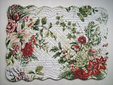 "April Cornell JARDIN ROUGE Floral 13"" x 19"" Quilted Cotton Placemat"