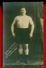 RUSSIA RUSSLAND SEMI NUDE MAN World Championship WRESTLER VINTAGE PHOTO PC.1406