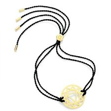 Daisy Jewellery NEW! Black Cord Gold Plated Solar Plexus Chakra Bracelet