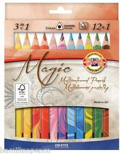 KOH-I-NOOR 3408 MAGIC COLOURED PENCILS - Set of 12 colours with blender pencil