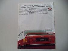 advertising Pubblicità 1988 AUDI 90 QUATTRO 20V