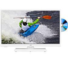 "JVC LT-24C656 Smart 24"" LED TV with Built-in DVD Player - White (J60)"