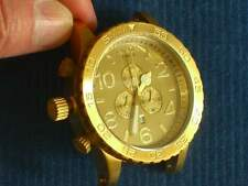 NIXON 51-30 CHRONO/ALL GOLD/Watch ONLY/Pristine/Replacement Watch/No Band