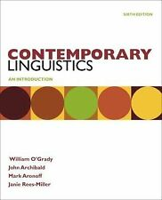 Contemporary Linguistics by Janie Rees-Miller, Mark Aronoff, John Archibald...