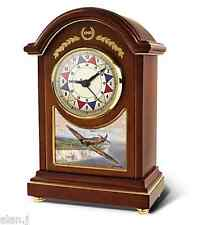 "RAF Spitfire Aircraft 'Carriage clock ""Defending The Realm"""