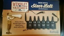 Wembley Tailgate Beer Guys Sixer Belt With Bottle Opener New