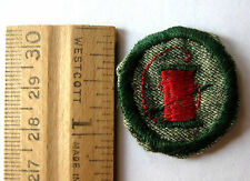 Rare 1933-1938 Girl Scout NEEDLEWOMAN FINDER BADGE Seamstress Sewing Patch Grey