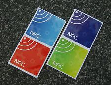 NFC Tag 4er Set NTAG203 Sticker / Aufkleber: Action Tags für alle NFC Geräte!!!