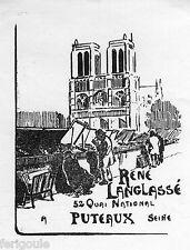 EX-LIBRIS de René LANGLASSÉ. Île-de-France.