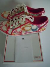 AUTHENTIC COACH NEW IN BOX + CARE CARD WOMEN SNEAKERS COMFY & STYLISH SIZE 7.5