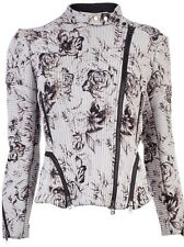 NWT 3.1 Phillip Lim Floral Corded Silk Motorcycle Jacket Coat Size 4 Ret $1195