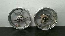 05 06 KAWASAKI ZX6R 636 FRONT & REAR WHEELS RIMS SET 100% STRAIGHT CLEAN OEM