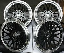 "18 ""NERO LM Ruote in Lega Adatta VW Caddy CC EOS GOLF JETTA PASSAT SCIROCCO SHARAN"