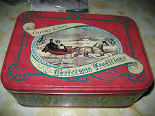 Vintage and Antique Currier and Ives Print Making Co. Christmas Traditions Tin