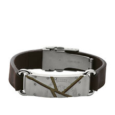 DIESEL MEN'S ONLY THE BRAVE COLLECTION BROWN BRACELET DX0481