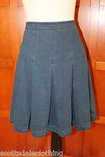 NEW Diane von Furstenberg DVF Gemma Stretch Indigo Pleated Skirt 8 M $328