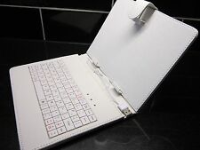"White USB Keyboard PU Leather Case for 8"" Ployer Momo8 MOMO 8 IPS Tablet PC"