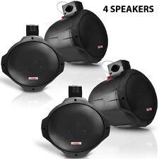 New Pyle PLMRB85 8'' 300 Watt 2-Way Wake Board Marine Speakers Black (4 QTY)