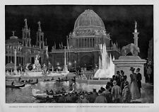 COLUMBIAN EXPOSITION ELECTRICAL ILLUMINATION OF MACMONNIES FOUNTAIN GONDOLA