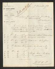 """SAINT-MIHIEL (55) PAPETERIE LIBRAIRIE MERCERIE """"Mme TESSELIN - LAGUERRE"""" en 1873"""