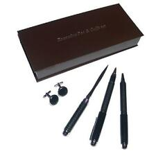 Carbon Fibre Look Gift Set – Pens, Cufflinks and Letter Opener