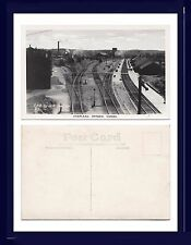 CANADA ONTARIO CHAPLEAU CPR YARDS & RAILROAD DEPOT  REAL PHOTO CIRCA 1950