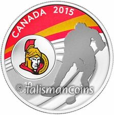 Canada 2015 NHL Ottawa Senators National Hockey League $10 Silver Reverse Proof