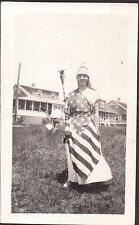 1920 CEDAR TREE POINT RHODE ISLAND 4TH OF JULY FLAG LADY LIBERTY TORCH OLD PHOTO