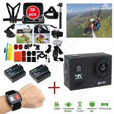 "SJ8000 2.0"" 4K WIFI 1080P Sports Helmet Camera+Remote+Battery+38 in1 Accessories"