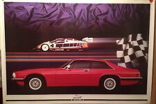 Jaguar XJ-S & XJR8  #JAG/88 53 Factory Car Poster Extremely Rare! Own It!